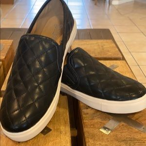 Black slip ons- Quilted!